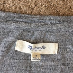 Madewell Tops - Madewell oversized tee sz S Viscose Heathered Gray